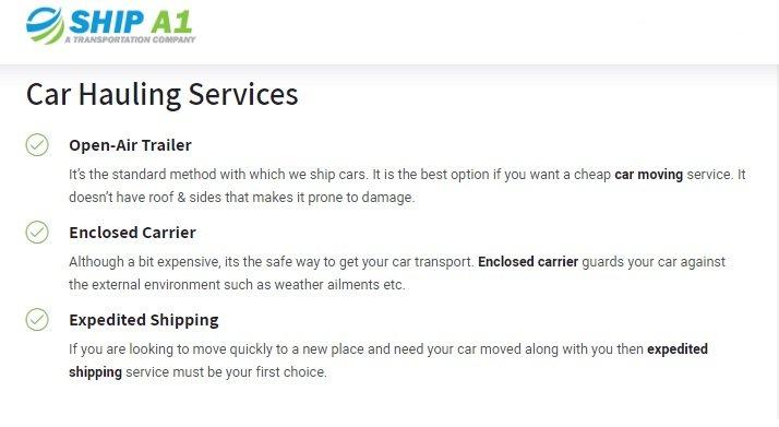 Ship A1-services